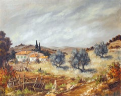The Farmhouse , Le Mas, 32x26 in. , Year 1975.