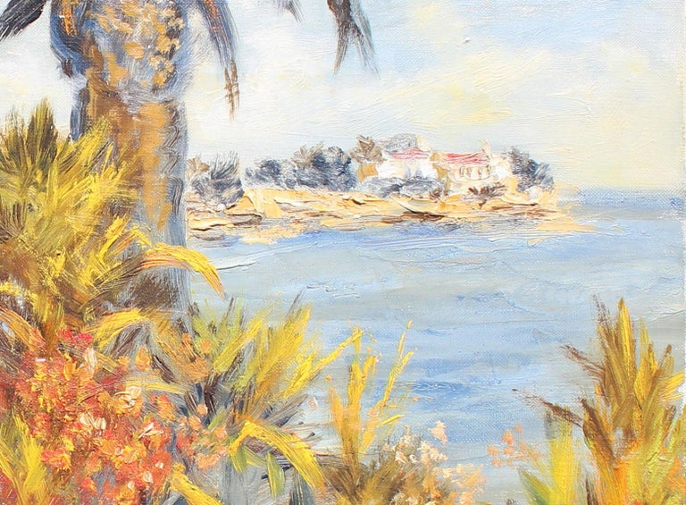 Palm Beach  - Painting by Félix Tisot