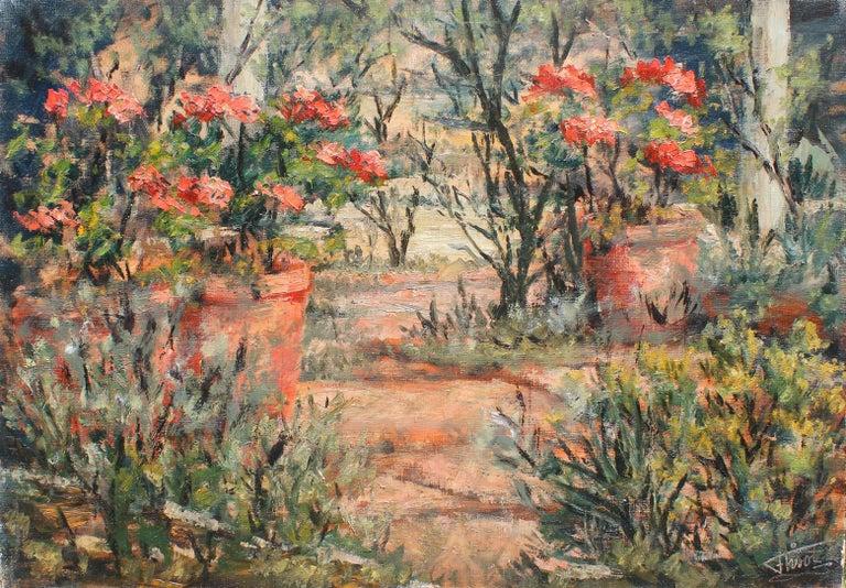 Félix Tisot Landscape Painting - Botanical Garden