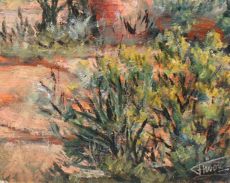 Botanical Garden - Impressionist Painting by Félix Tisot