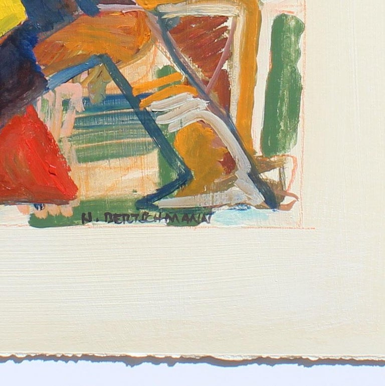 Untitled, Abstract Figure, 1971 - Abstract Expressionist Painting by Harry Bertschmann