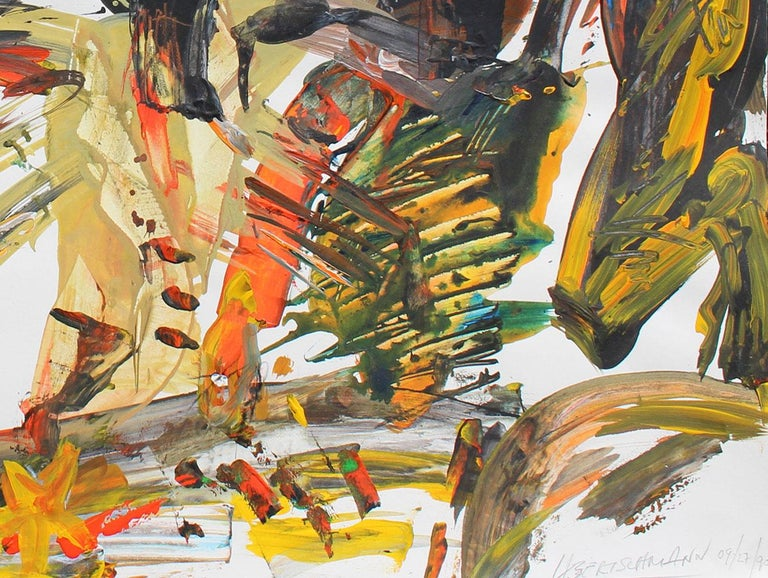 Nail It, 1990 (Peck Slip)   - Abstract Expressionist Painting by Harry Bertschmann