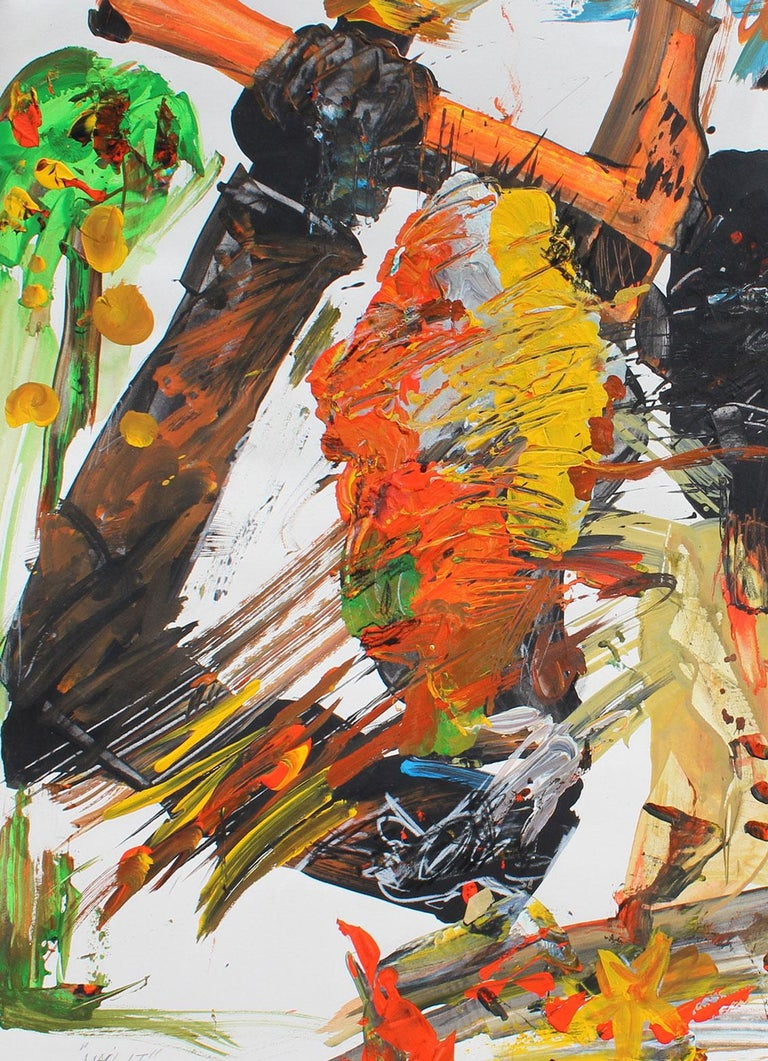 Nail It, 1990 (Peck Slip)   - Brown Abstract Painting by Harry Bertschmann