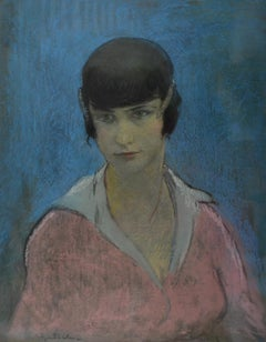 Nana, early 20th Century Armenian/French Pastel Portrait