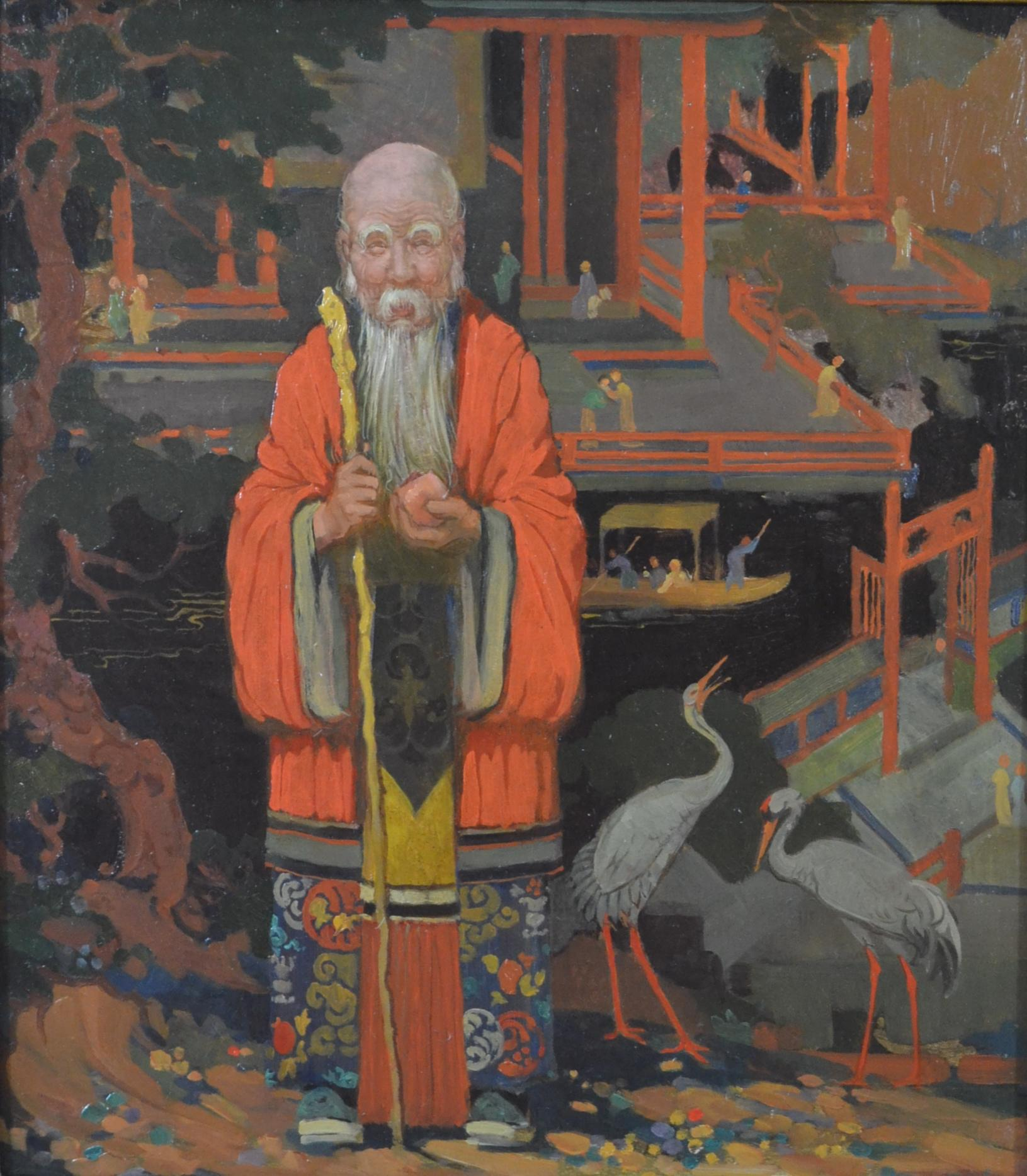 Percy Angelo Staynes - Chinese Mandarin - oil on board