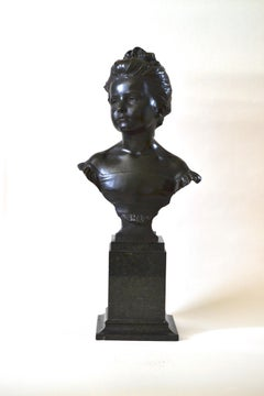 The Age of Innocence - New Sculpture bronze bust by Alfred Drury