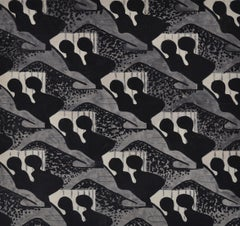 Black and Grey Design for Fabric