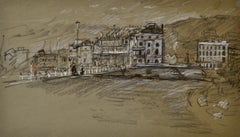 Waterloo Crescent, Dover - 20th Century British chalk drawing by John Sergeant