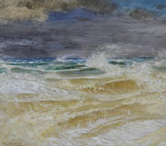 The Storm - British Symbolist seascape by William Shackleton
