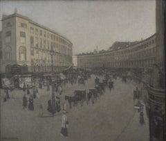 Regent Street, London - British Impressionist London street scene