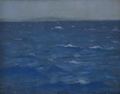 Open Sea - Marine pastel by British Impressionist artist William Stott of Oldham