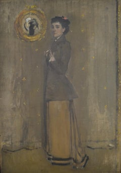 Miss Jane Aitken - Portrait by Scottish Artist Edward Arthur Walton