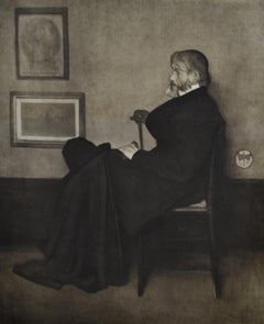 Portrait of Thomas Carlyle - Realist 1907 photogravure print after Whistler
