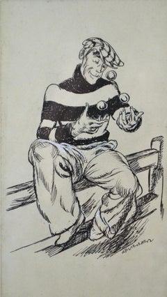 Charlie Chaffinch - Original 1930s illustration by Steven Spurrier