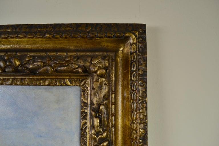 Fenland Reed Cutters - Victorian Idyllist landscape painting by Walker Macbeth - Gray Landscape Painting by Robert Walker Macbeth, RA