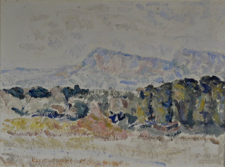 Marit Guinnes Aschan Landscape Painting - Landscape, Iceland or Canada, by British artist and designer Marit Guinness