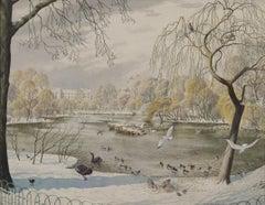 St James's Park, London - 20th Century British watercolour by Stanley Badmin