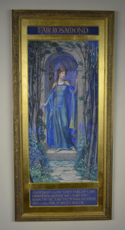 Fair Rosamond - Pre-Raphaelite watercolour by British Female Artist Kate Eadie 3