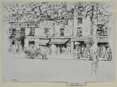 The Street, Chelsea - 1880s etching by Whistler follower Theodore Roussel