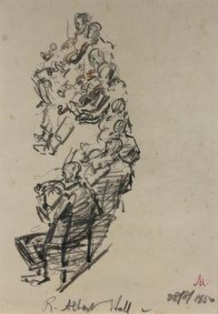 Violin Section, Royal Albert Hall - Study by British artist Lord Methuen
