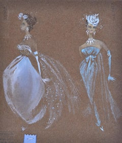 Two Showgirls - 1950s British stage costume designs by Cynthia Tingey