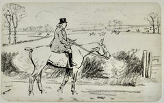 The Welter Weight - Pen and ink British Sporting drawing by Lionel Edwards
