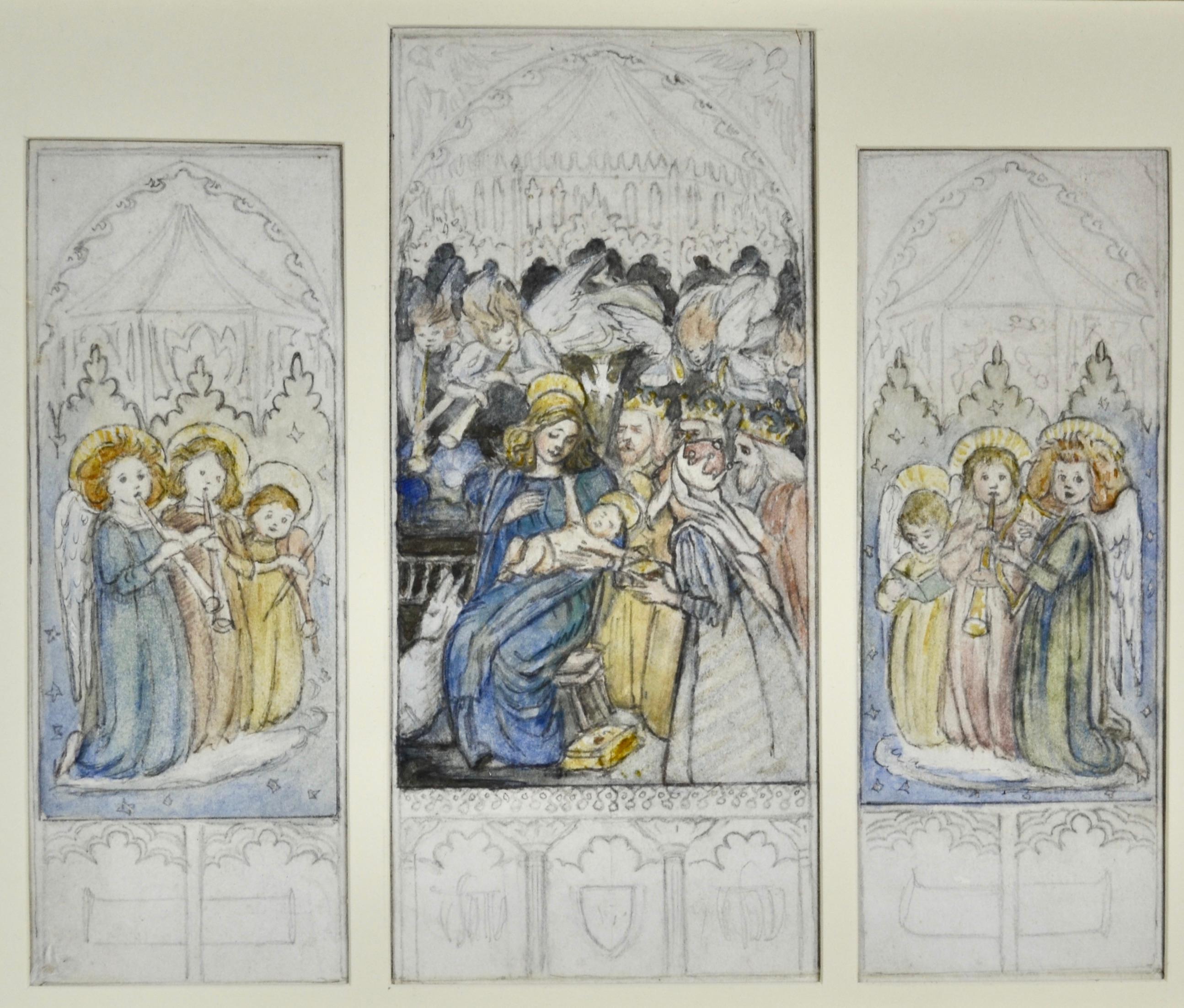 Altarpiece design by British Arts and Crafts artist Reginald Hallward