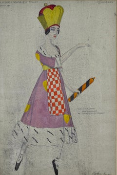 Queen of Hearts - Ballet Costume Design by Claud Lovat Faser