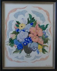 Full Bloom - 20th Century Brutish watercolour of Flowers by Stuart Armfield