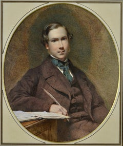 Portrait of a Young Man by Victorian artist George Elgar Hicks