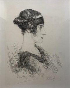 Lady Dorothy Mills - 1920s British portrait of female explorer by A J Bennett