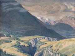 The Pitzeklamm Gorge, Austrian Tyrol - British landscape by C M Gere