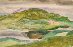 An Irish Lough - Modern British watercolour Landscape by Reginald Brill