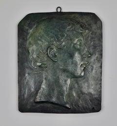 Francis Valerio - 1900 plaster plaque by Irish artist Beatrice Glenavy