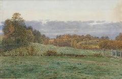 A Little Wooded Valley in Surrey - Pre-Raphaelite landscape by G P Boyce