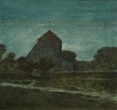 Rottingdean Church - 1917 British Watercolour by Sir Philip Burne-Jones
