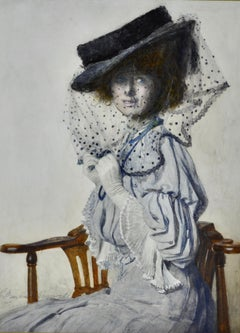 The Spotted Veil - Edwardian British Watercolour by Gertrude Demain Hammond