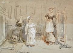 Her New Dress - Victorian Watercolour by G G Kilburne
