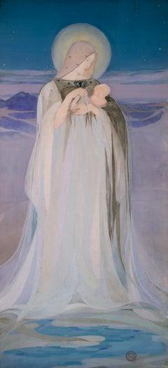 Primordium Vitae - Late 19th Cent Scottish Celtic Revival Symbolist watercolour