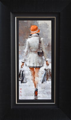 """Andre Kohn. """"Retail Therapy. Milan."""" Figurative & Impressionist Oil on canvas."""