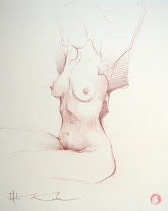 "Andre Kohn. ""Nude Study"" Original, elegant nude drawing from artists collection"