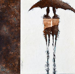 "Svetlana Shalygina. ""Silhouettes de Versailles"" Original mixed media figurative"