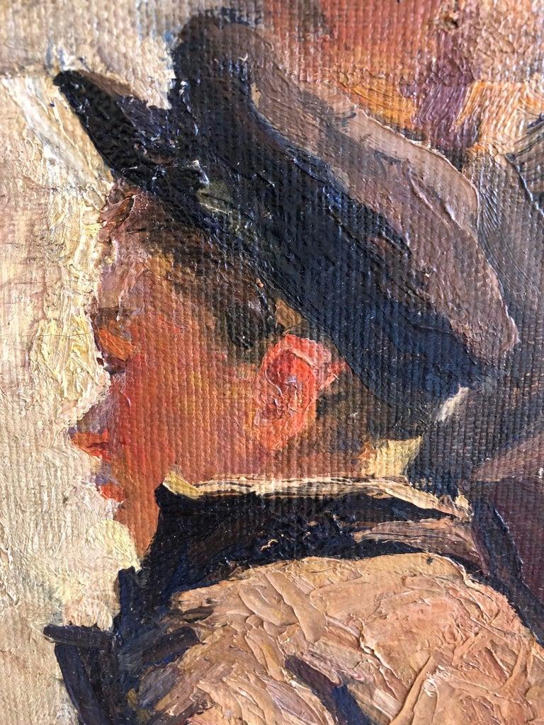 1949 Original Oil Figurative Russian Impressionism Soviet Realism