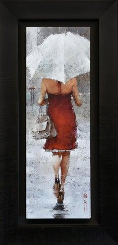 "Andre Kohn. ""Vintage Dior, series #17."" Figurative Oil on museum wrap canvas."