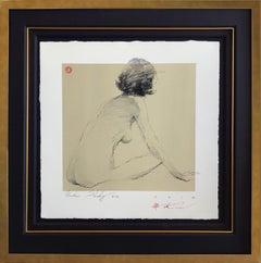 "Andre Kohn. ""Nude Study #172"" Original Figurative Impressionist Nude Drawing."