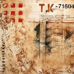 "Andre Kohn. ""Project 7160413"" Original Mixed media Painting/drawing combined."