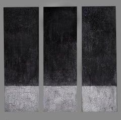 "Svetlana Shalygina. ""The Silent Evidence of Always & Never"" Abstract Triptych."