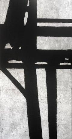 "Svetlana Shalygina.""Straightforward""Black & White Contemporary Abstract Painting"