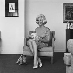 Marilyn Monroe with pet Maf Honey, 1961