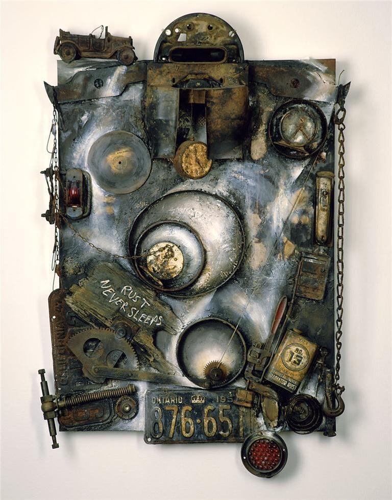 Jenice Heo Abstract Print - Rust Never Sleeps